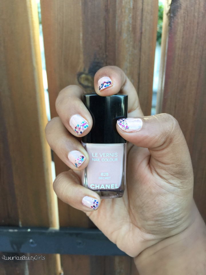 Tuto manucure: pink pastel & glitters