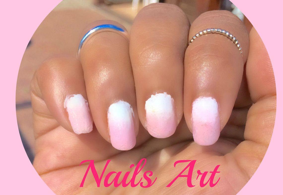 Nails Art: Ombré Pink-White