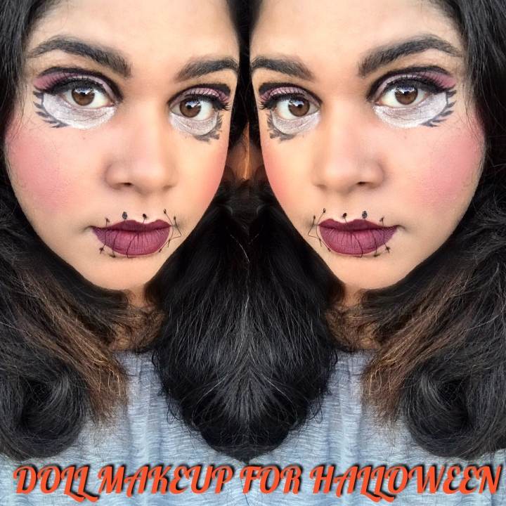 DOLL MAKEUP FOR HALLOWEEN / MAQUILLAGE POUPÉE POUR HALLOWEEN