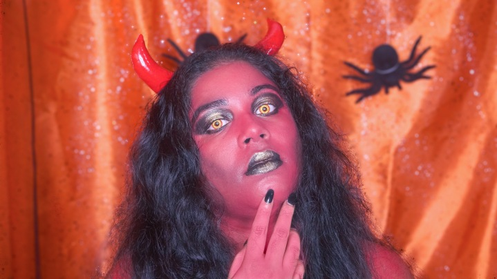 RED GLAM DEVIL HALLOWEEN MAKEUP ⎢MAKEUP TUTORIAL