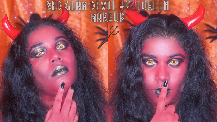 RED GLAM DEVIL HALLOWEEN MAKEUP ⎢MAKEUP TUTORIAL