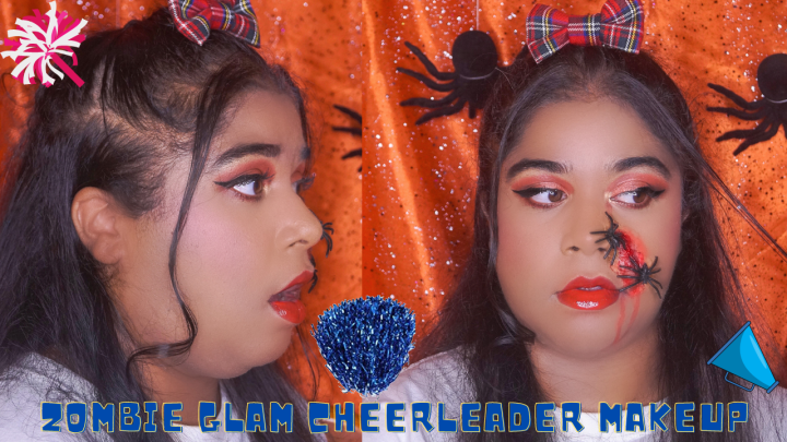 ZOMBIE GLAM CHEERLEADER MAKEUP ⎟MAKEUP TUTORIAL